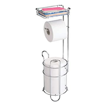 Amazon Com Mdesign Freestanding Metal Wire Toilet Paper Roll Holder
