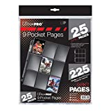 Ultra Pro Silver Series 9-Pocket Pages (25 Count Pack)