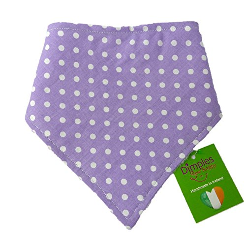 Dimple Pattern - Dimples Dog Bandana - Purple Polka Dots (Handmade for All Dog Sizess) 24 inch