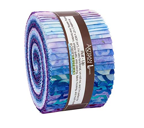 Robert Kaufman Posies Artisan Batik Roll Up 40 Strips 2.5 by 44 inches
