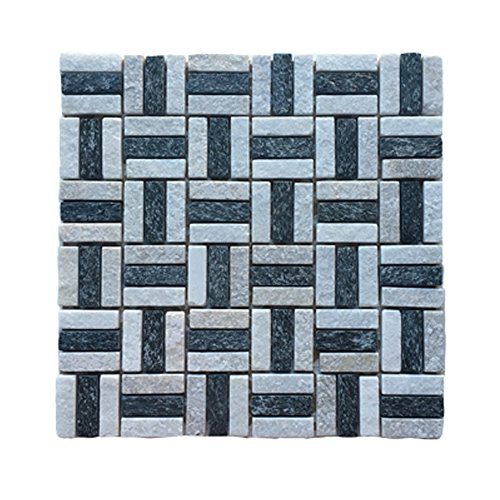 - Affordable Home Innovations Glass & Stone Mosaic Tiles Onyx Bisque 1 Sq/ft