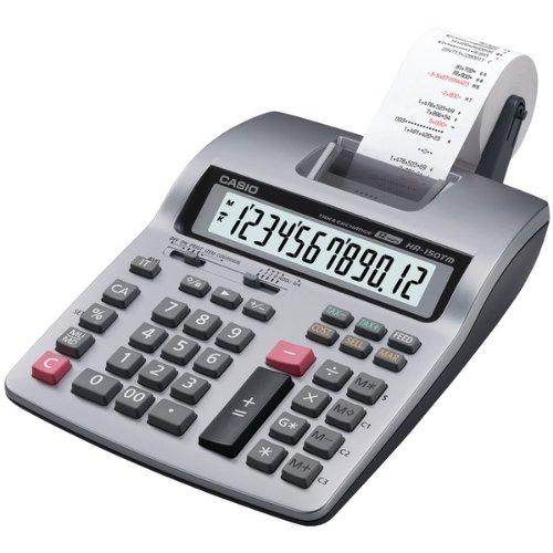 Casio HR150TMPLUS Calculator, 12 Dgt, 2 Color, Tax/Currency, 6 1/3'' x 10 5/8'' x 2 1/2'' (CSOHR150TE) Category: Printing Calculators by Casio