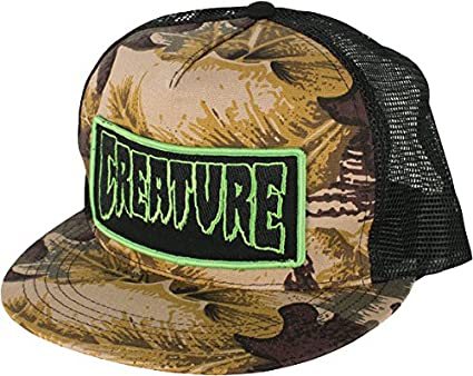 d3bbfdfaf41 Image Unavailable. Image not available for. Color  Creature Patch Mesh Hat  Adjustable  Camo Black