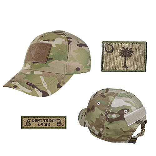 US State Operator Cap Bundle - With State & Dont Tread On Me Patches - South Carolina