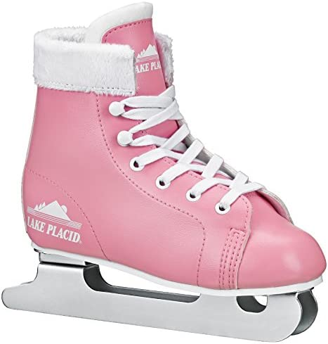 Lake Placid Starglide Girl's Double Runner Figure Ice Skate, Pink/White