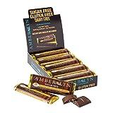 amber lyn chocolate - Amber Lyn Sugar-Free Dark Chocolate Hazelnut Almond Bar, 15-Count