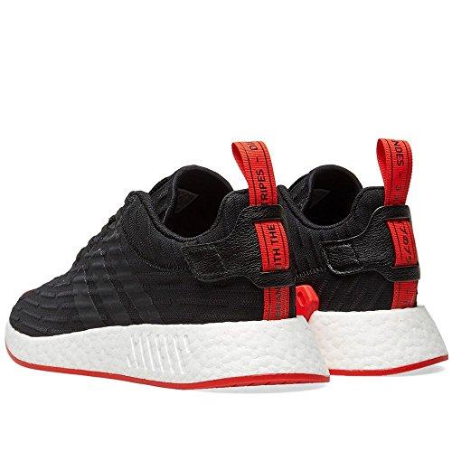 adidas Originals Herren NMD_r2 PK Sneaker Schwarz / Kernrot