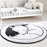 Superb HILTOW Round Rugs Baby Rug Nursery Rugs Cute Fox Design Home Decoration  Area Rugs Bedroom/
