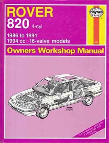Rover 820 4-cyl 1986 to 1991 Haynes Manual