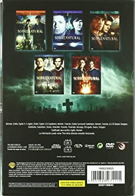 Sobrenatural (Temporadas 1-5 Completas) [DVD]: Amazon.es: Alona Tal, Jared Padalecki, Samantha Ferris, Jensen Ackles, Chad Lindberg, Samantha Smith, Jeffrey Dean Morgan, Nicki Aycox, Jim Beaver, Eric Kripke, Philip Sgri, Alona Tal, Jared