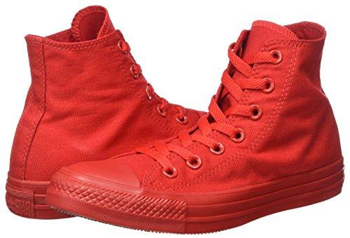 – Converse Monocrome Rosso All Star Sneaker Hi Alte Unisex Adulto wOg0vZgqP