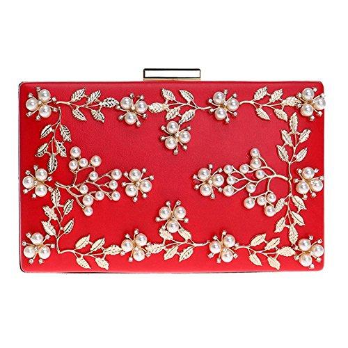 diamant de sac fête promo de main femmes sac fleurs pochettes red à mariage bal soirée bourse aux perle IgUfwxEE