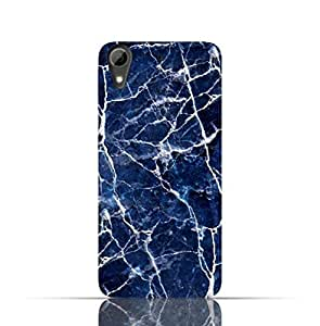HTC 728 TPU Silicone Case with Blue Marble Texture Design