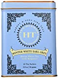 Harney & Sons Caffeinated Winter White Earl Grey Tea with Bergamot Tin 20 Sachets