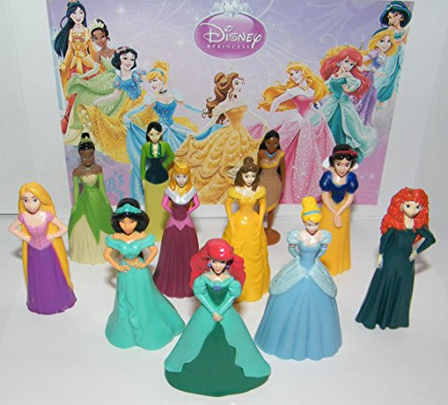 Disney Princess Deluxe Party Favors Goody Bag Fillers Set of 11 Nice Sized Figures with Rapunzel, Cinderella, Ariel Etc and Bonus (Deluxe Favor)