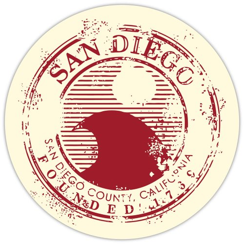 (San Diego travel stamp sticker decal 4