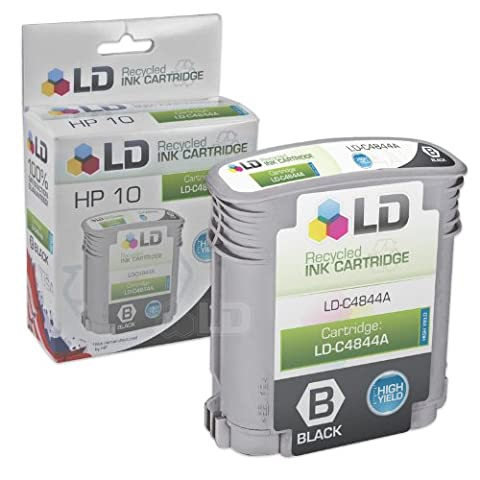 LD © Remanufactured Replacement Ink Cartridge for Hewlett Packard C4844A (HP 10) High-Yield Black (Hp Cartridge 10)