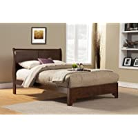 Full Low Profile Sleigh Bed in Cappuccino