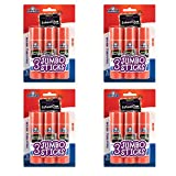 Elmers E579 Jumbo Disappearing Purple School Glue Stick, 1.4 Ounce, 4 Packs of 3 Sticks, 12 Sticks Total