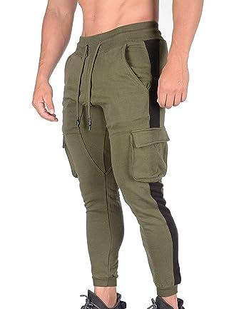 kewing Pantalones de chándal de Moda para Hombre Pantalones de ...