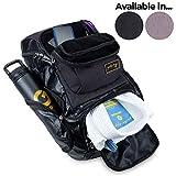 Gold BJJ Jiu Jitsu Backpack - Heavy Duty Gym Bag with Waterproof Gi Pocket (Black)