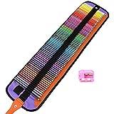 MEGICOT 色鉛筆 72色 油性色鉛筆 塗り絵 描き用 収納ケース付き 鉛筆削り付き 携帯便利