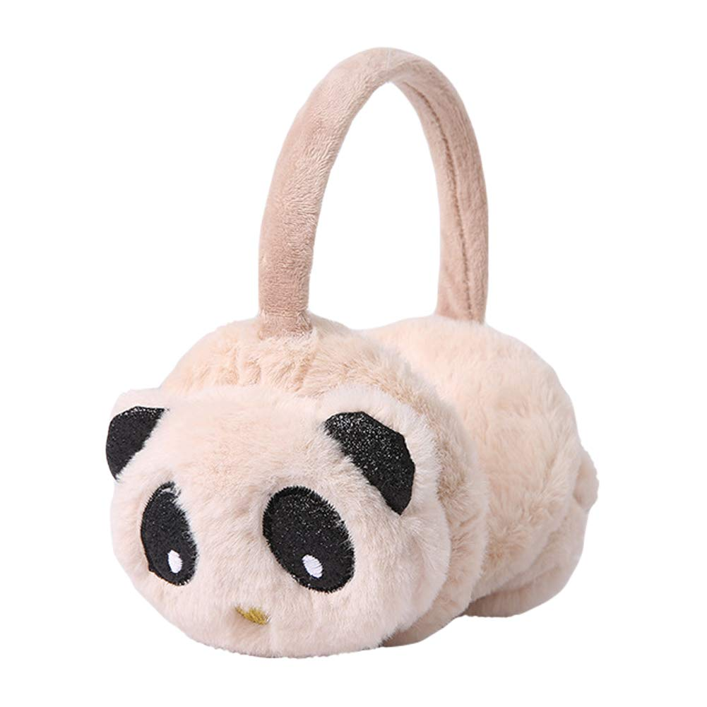 Funbase Kids Plush Panda Earwarmer Adjustable Winter Earmuff Ear Cover Xmas Gift