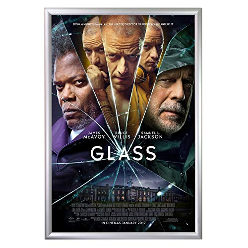 White Clear Overlay (SnapeZo Movie Poster Frame 24x36 Inches, Silver 1.2
