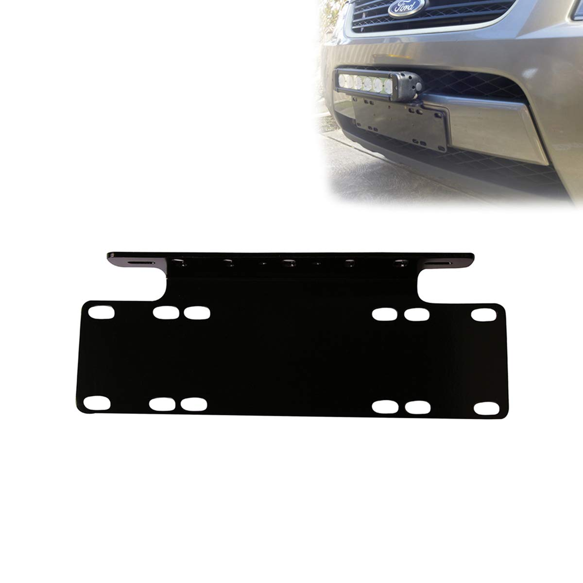 WOWLED Universal License Number Plate Frame Mounting Bracket Holder for Offroad Driving LED Light Bar and Work Lamps Black, Truck 4X4 Wow Factor