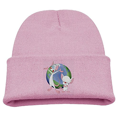Pinky Brain Costume (Pinky & The Brain Animaniacs Warm Winter Hat Knit Beanie Skull Cap Cuff Beanie Hat Winter Hats Girls)