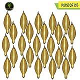 Perlite Lighting (Pack of 25) 25C11A/130 25-Watt C11 Spunlite Amber Candelabra E12 Base 130-Volt Light Bulb