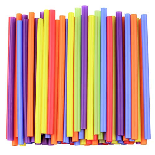 (Jumbo Smoothie Straws, Assorted Colors [100 Pack])