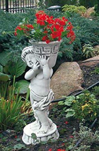 Niño con cesta de flores (S410) Jardín figuras Estatua de piedra Piedra figuras 51 cm: Amazon.es: Jardín