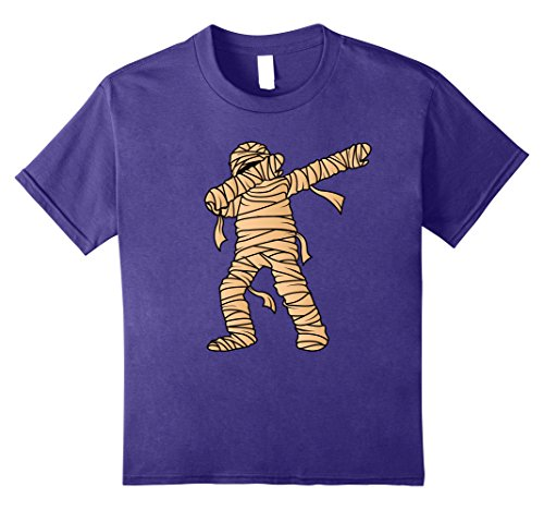 Mummy Dance Costume (Kids Dabbing Mummy T-Shirt - Mummify Dab Dance Halloween Costume 12 Purple)