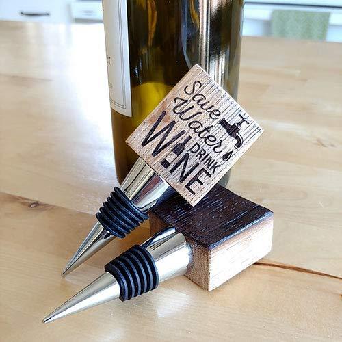 Wine Barrel Bottle Stopper - Handmade from real Napa Valley wine barrels.
