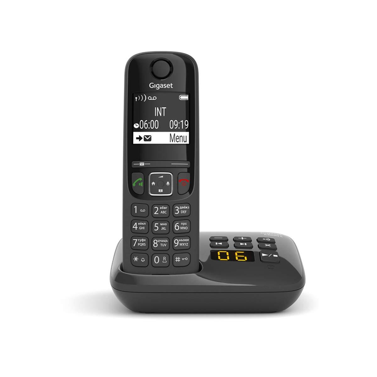 Festnetztelefon Schnurlostelefon ohne Anrufbeantworter gro/ßes Display gro/ße Tasten DECT-Telefon mit Freisprechfunktion wei/ß Gigaset AS690