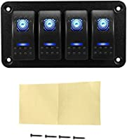 Amazoncom Rocker Switch Panel Custom Switches 4 Gang Toggle