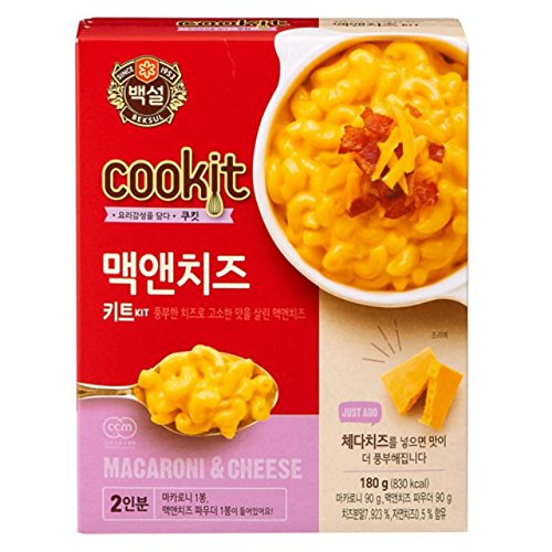 [5packs] CJ Beksul Macaroni and Cheese 180g / instant food kit / korean food / fast cooked