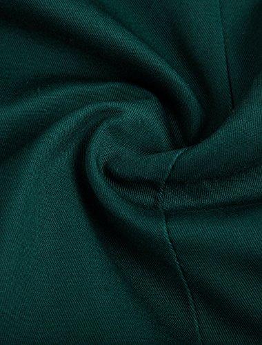 Prima Qualità Centro Un Allegra Uomo Verde Giacca Bavero Bottone Scuro vent Retro Di K RtxnSwaT