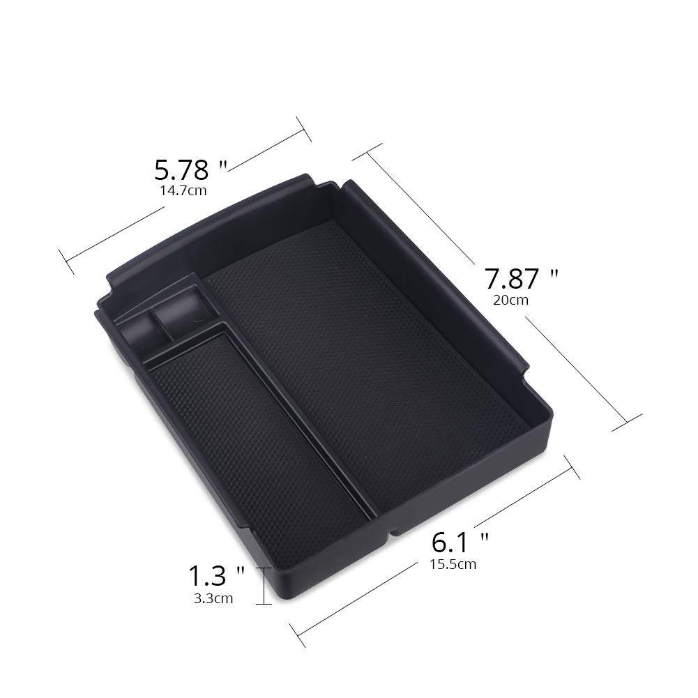 2017-2018 Model S Accessories with A Car Cleaner Brush VANJING Center Console Organizer Tray Storage Box Holder Container for 2016-2018 Tesla Model X