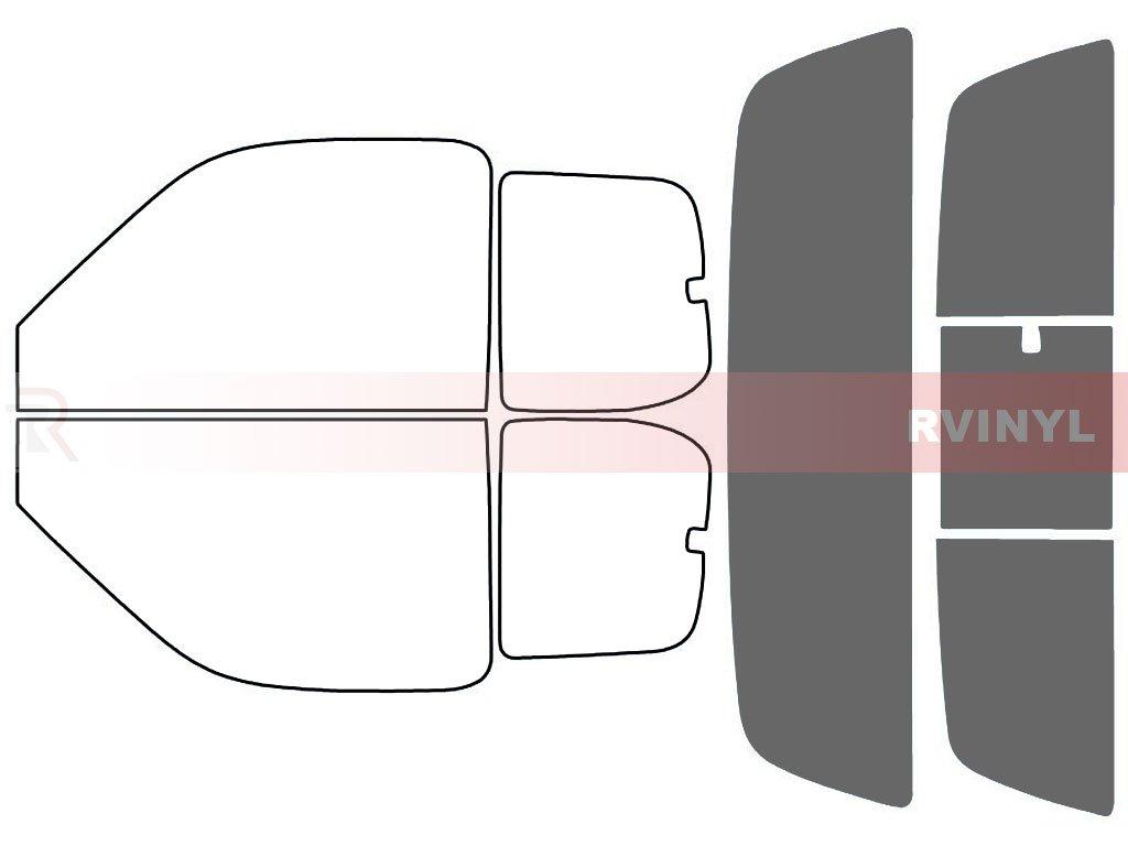 Rtint Window Tint Kit for Toyota Tundra 2000-2006 (2 Door) - Front Kit - 20% Rvinyl