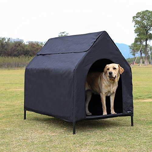 Comprar AmazonBasics - Caseta para mascotas, elevada, portátil, grande, negra - Tiendas Online con Envíos Baratos o Gratis 24/48H