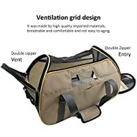 Harbo Soft Sided Pet Carrier Airline Travel Cat/Dog Small Animals Tote Bag(Apricot)