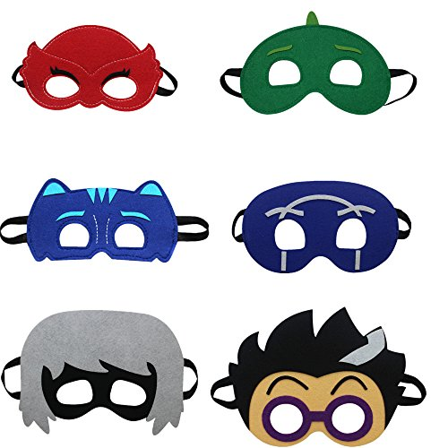 STARKMA Cartonn Hero Masks Party Favors Dress Up Costume Set of 6 Mask]()
