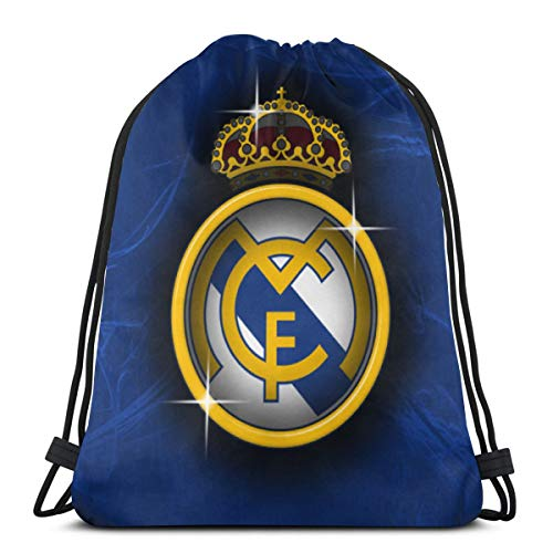 Real Madrid Drawstring Backpack Sport Bags Cinch Tote Bags For Sport And Storage