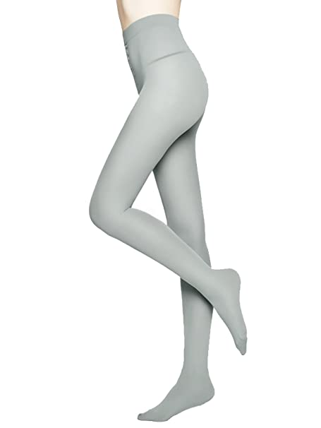 42a165ca5ae MOOCHI Women 80 Denier Semi Opaque Pantyhose Tights (Gray)  Amazon.ca   Clothing   Accessories