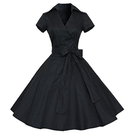 e0f1669ba56 Amazon.com  IEason Women Dress Women Vintage Dress 50S 60S Swing Pinup  Retro Casual Housewife Party Ball  Clothing