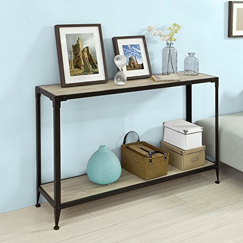 Console Sofa Table Hall Table, One Shelf Good Quality And Simple Design  Metal Frame Four