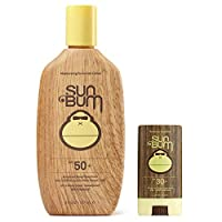 Sun Bum Original Moisturizing Sunscreen Lotion SPF 50 (8 oz) | Face Stick SPF 30 (.45 oz) | Vegan & Reef Friendly | Octinoxate & Oxybenzone Free | Broad Spectrum UVA/UVB Sunscreen with Vitamin E