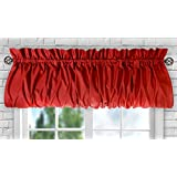 Ellis Curtain Stacey Balloon Valance, 60-Inch x 15-Inch, Red